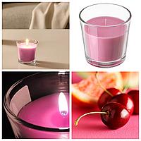 Ароматическая свеча в стакане IKEA SINNILIG 7,5 см х 25 часов горения декоративная вишнёвая СІНЛІГ ИКЕА