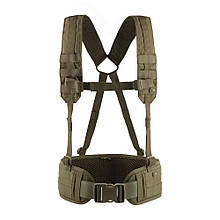 Пояс тактичний м-тас з плечовими ременями Scout olive