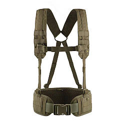 Пояс тактический м-тас с плечевыми ремнями Scout olive