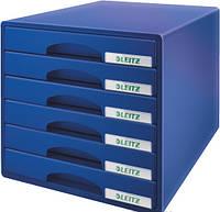 Шкафчик Настольный короб с 6 ящиками WOW CUBE 6 ящиков Leitz 52120035 синий (52120035(синий) x 49399)
