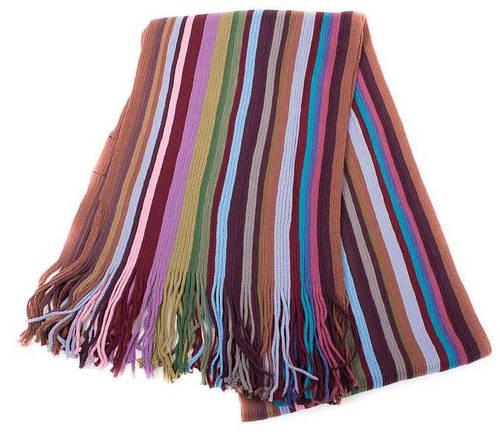 Мужской шерстяной шарф в стиле PAUL SMITH 172 на 25 см BAOSIDI (БАОСИДИ) DC183-409 коричневый