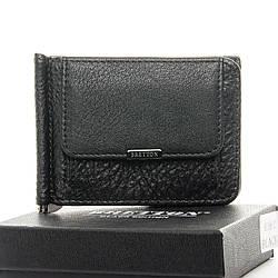 Мужской кожаный кошелек Dr.Bond Зажим для банкнот, черного цвета / BE168-27