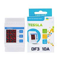 Реле напряжения Tessla DF3 10A для трехфазного оборудования.