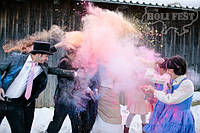 Зимові фотосесії з сухими фарбами Холі 😃