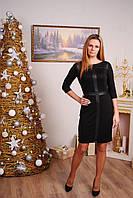Платье женское с вставками черное, фото 1