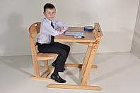 """Детская Парта, Стол с наклоном """"Пеликан"""" , высота регулируется до 74см"""