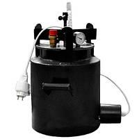 Автоклав Середній-16Э (16 банок 0.5 л або 5 банок 1л) Гвинтовий Електричний з вуглецевої сталі, фото 1
