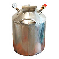 Автоклав Средний-20Н (20 банок 0.5л или 7 банок 1л) Самоподжимной Газовый из нержавеющей стали, фото 1