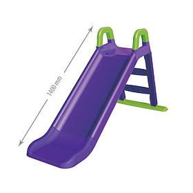 """Детская пластиковая фиолетовая горка для улицыТМ """"Doloni"""", размер 1,4x0,6х0,6см"""
