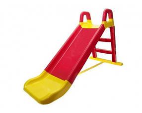 """Детская пластиковая краснаягорка для улицыТМ """"Doloni"""", размер 147x65x85см"""