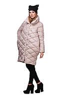 Модная женская куртка-пуховик удлиненная