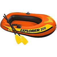 Надувная лодка Eхplorer 200 с алюминиевыми веслами и насосом SKL82-292197