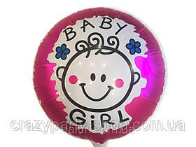 Шар фольгированный день рождения  девочки