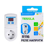 Реле напряжения розеточное Tessla R116 16A