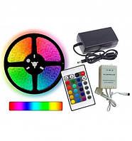Комплект светодиодная лента многоцветная 3528 Rgb 181203