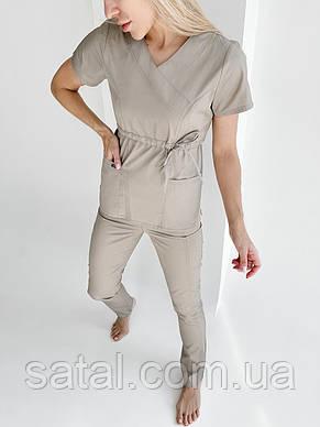 """Медичний костюм """"Микато NEW"""". Білий. Рукав короткий. ТМ Сатал, фото 2"""