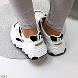 Актуальні чорно - білі жіночі кросівки снікерси з рефлективными вставками 38-24 см, фото 3