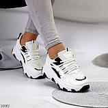 Актуальні чорно - білі жіночі кросівки снікерси з рефлективными вставками 38-24 см, фото 5