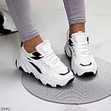 Актуальні чорно - білі жіночі кросівки снікерси з рефлективными вставками 38-24 см, фото 8