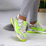 Круті яскраві неонові салатові лаймовые жіночі кросівки мультиколор, фото 4