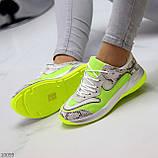 Круті яскраві неонові салатові лаймовые жіночі кросівки мультиколор, фото 6
