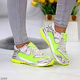 Круті яскраві неонові салатові лаймовые жіночі кросівки мультиколор, фото 7