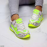 Круті яскраві неонові салатові лаймовые жіночі кросівки мультиколор, фото 9
