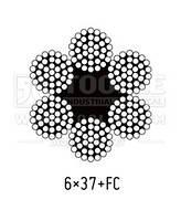 Оцинкованный стальной трос 13.0мм., (пл.6х37+FC) [50] EN12385-4