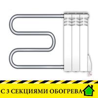 Электрополотенцесушители Эра+ Премиум с тремя секциями обогрева