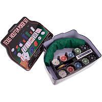 Покерный набор ZELART В коробкена 200 фишек с номиналом Металл (IG-1103240)