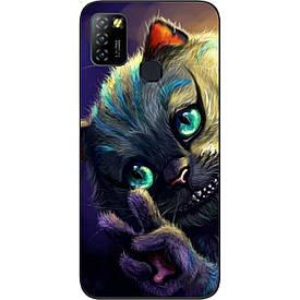 Чехол силиконовый для Infinix Hot 10 Lite с картинкой Чеширский кот