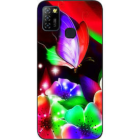 Чехол силиконовый для Infinix Hot 10 Lite с картинкой Яркая бабочка