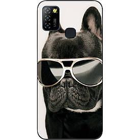 Бампер силиконовый для Infinix Hot 10 Lite с рисунком Крутой пес