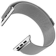 Ремешок для часов смарт apple wath. Ремешок для часов миланская петля. На дисплей 42-44 мм. Металлик