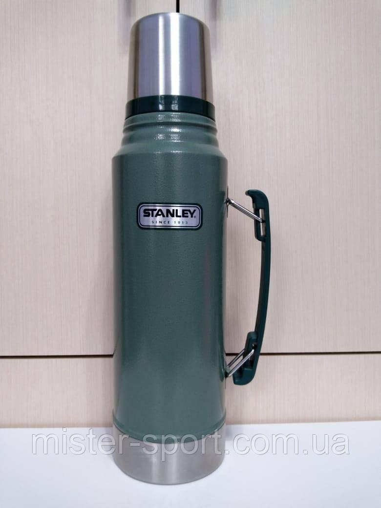 Лот №55, Термос STANLEY Classic Legendary 1 литр зелёный, состояние (5) по пятибалльной шкале