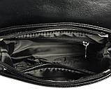 Жіноча замшева сумка М55-33/замш чорна крос-боді через плече з натуральної замші, фото 4