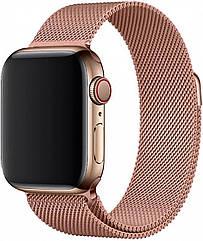 Ремешок для часов смарт apple wath. Ремешок для часов миланская петля. На дисплей 42-44 мм. Золото