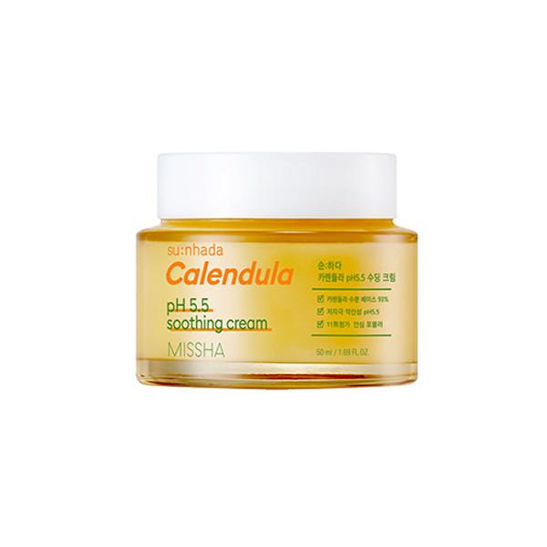 Крем для обличчя з екстрактом календули MISSHA SU: NHADA CALENDULA pH BALANCING & SOOTHING CREAM, 50ml