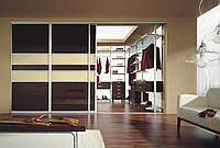 Двери раздвижные с аракаловой пленкой на стекле, фото 1