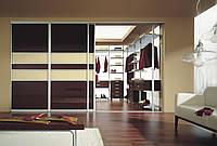 Двери раздвижные с аракаловой пленкой на стекле