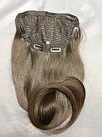 Накладка-шиньон на заколках из натуральных темных волос