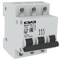 Автоматический выключатель (Автомат) ВА 47 29 3р 25А (4,5кА), КЭАЗ
