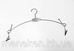 Вішалка з прищіпками на ланцюгах срібляста