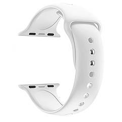 Ремешок для часов силиконовый, для смарт часов Apple Watch, аналогов Apple Watch 22 мм. Белый