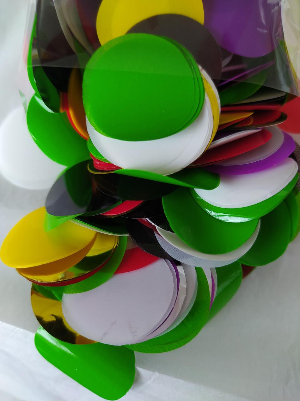 Аксесуари для свята конфеті кружечки асорті 23 мм х23 мм 50грам