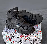 Женские кроссовки Dolce & Gabbana Mixed material trekking shoes with logo