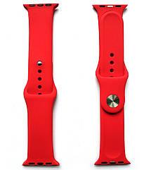 Ремешок для часов силиконовый, для смарт часов Apple Watch, аналогов Apple Watch 22 мм. Красный