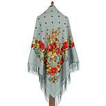 Весільні стрічки 1061-2, павлопосадский вовняну хустку з шовковою бахромою. Стандартний сорт, фото 2