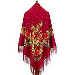 Свадебные ленты 1061-4, павлопосадский платок шерстяной с шелковой бахромой, фото 2