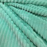 Отрез плюша в полоску Stripes мятного цвета 30*160 см, фото 2